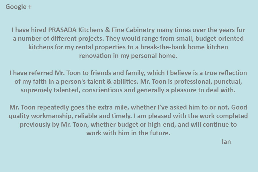 #1 kitchen company oakville PRASADA Kitchens & Fine Cabinetry of Oakville-review-from-Ian-(Google-+)