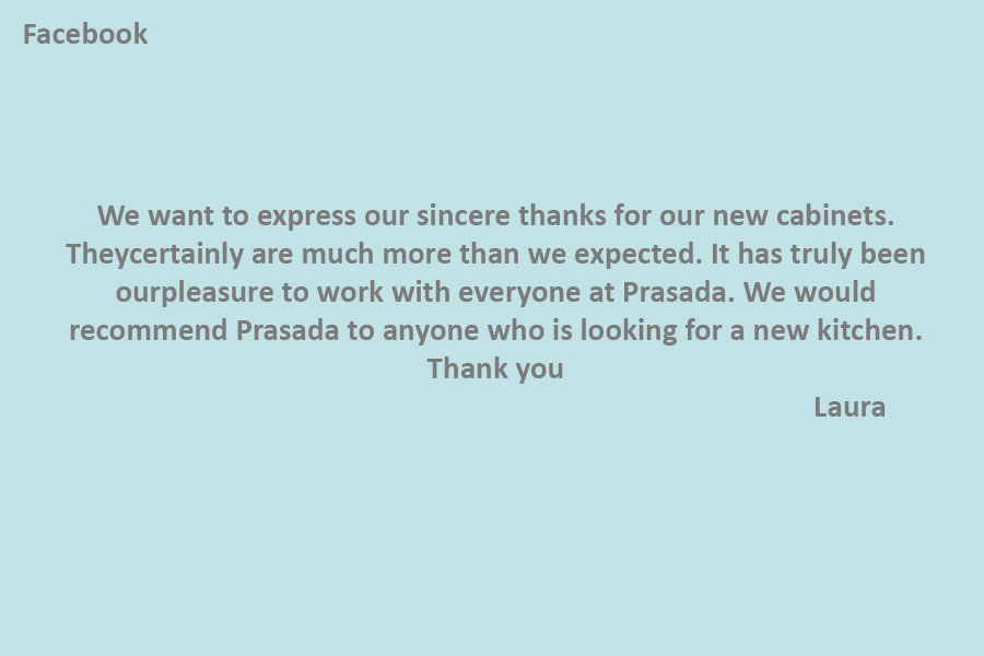 #1 kitchen company oakville PRASADA Kitchens & Fine Cabinetry of Oakville-review-from-Laura-(Facebook)